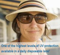 One of the highest levels of UV protection available in a daily disposable lens